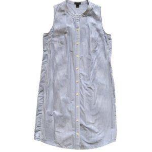 JCREW Collection Shirt Dress XS Blue White Stripe
